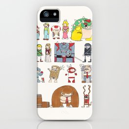 Nintendo Characters iPhone Case