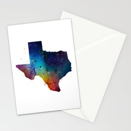 Texas Watercolor Stationery Cards