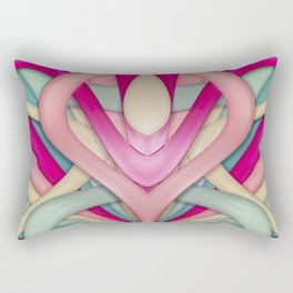 Laminated bubblegum II Rectangular Pillow
