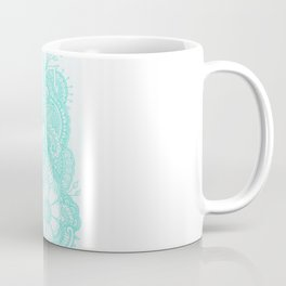 Henna Design - Aqua Coffee Mug