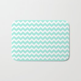 Green Chevron Bath Mat