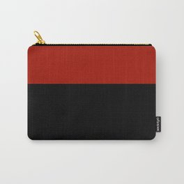 Black Red Color Block Carry-All Pouch