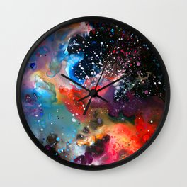 Nadezhda Nebula Wall Clock
