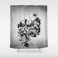 jack skellington Shower Curtains featuring Jack Skellington by bimorecreative