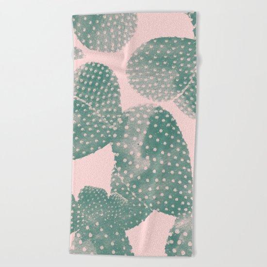 Cacti pink Beach Towel