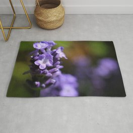 Lavender purple flower plant Rug