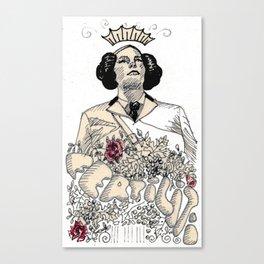 Woman sergeant queen Canvas Print
