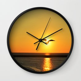 Icarus Vacationing in San Diego, California  Wall Clock