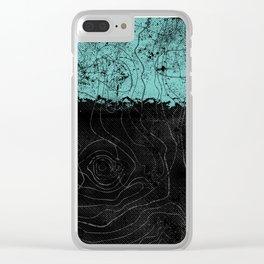 Topography Aqua Clear iPhone Case
