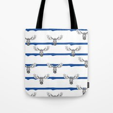 Moose Wallpaper Tote Bag