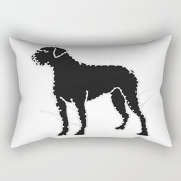 I have Connected the BOXER Doggy Dots! Rectangular Pillow