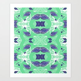 Caracola Green Art Print