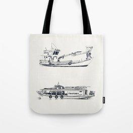 On paper: Capote y Picaflor Tote Bag