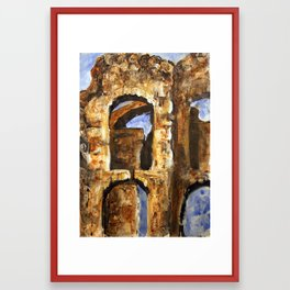 Burned Out Castle #2 Framed Art Print