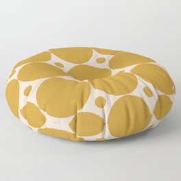 Futura Mid-century Modern Minimalist Abstract Pattern in Mustard Gold Floor Pillow