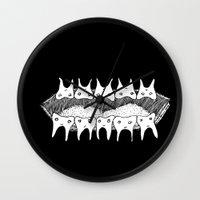 teeth Wall Clocks featuring Teeth by Addison Karl