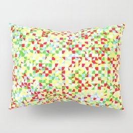 grid in red and yellow Pillow Sham