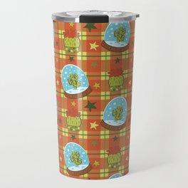 Cactus in a Snow Globe Travel Mug