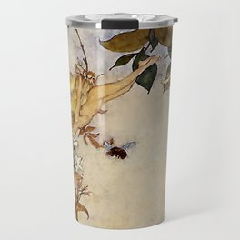 """""""Ariel and the Bee"""" Fairy Tale Art by Edmund Dulac Travel Mug"""