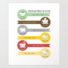 Steeping Tea Chart Art Print