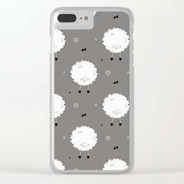 Funny sheep Clear iPhone Case