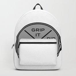 Disc Golf Shirt Discgolf Frisbee Grip It Rip It Backpack