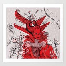 Woman Wolf Art Print