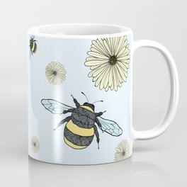 Bumble Bees and Flowers Coffee Mug