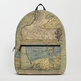 Vintage Discovery Map of The Americas (1771) Backpack