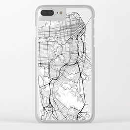 Scandinavian map of San Francisco Penninsula Clear iPhone Case