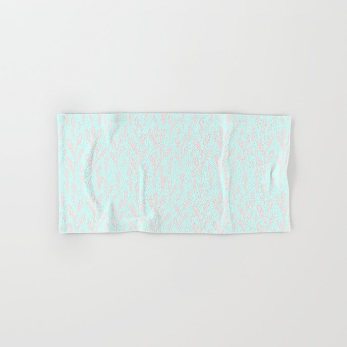 Merry christmas- abstract winter pattern with pink branch and snow Hand & Bath Towel