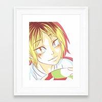 haikyuu Framed Art Prints featuring Kenma Haikyuu!! by SpigaRose