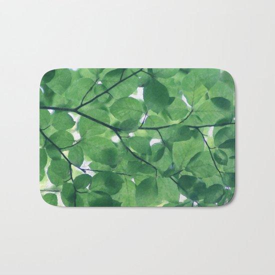 Greenery leaves Bath Mat