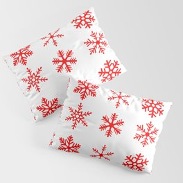red snowflake seamless pattern Pillow Sham