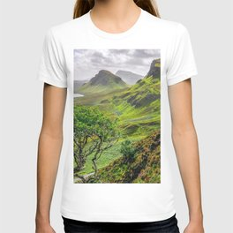 Lonely Tree In Beautiful Subtropical Mountainside Ultra HD T-shirt