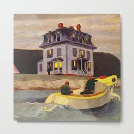 The Bootleggers (New England) portrait painting by Edward Hopper Metal Print