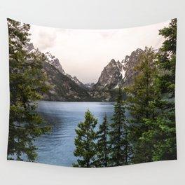 Grand Teton Wanderlust Lake Adventure - Nature Photography Wall Tapestry
