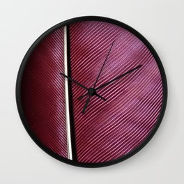 Feather of Knysna turaco bird Wall Clock