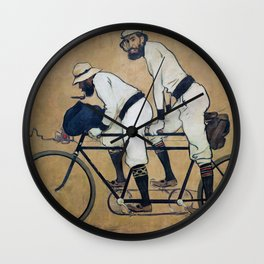 Ramon Casas And Pere Romeu On A Tandem - Digital Remastered Edition Wall Clock