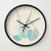 easter Wall Clocks featuring Easter by Anita Ivancenko