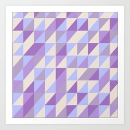 Purple n Hashed Art Print
