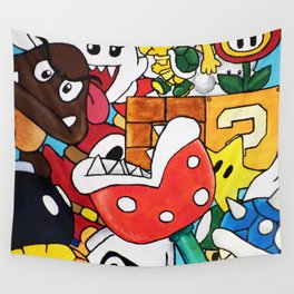 Super Mario Bros Wall Tapestry