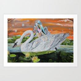 Swan Mountain Art Print