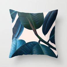 Ficus elastica 2 Throw Pillow