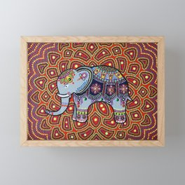 Indian Elephant facing left Framed Mini Art Print