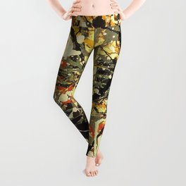 Jackson Pollock, digitally vectorised and filtered, fine art decor and clothing Leggings