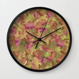 A Pile of Leaves Wall Clock