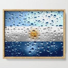 Flag of Argentina - Raindrops Serving Tray