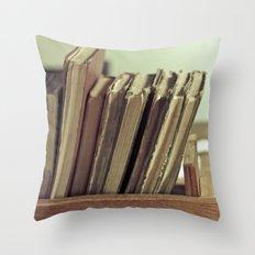 Retro Books Throw Pillow