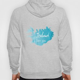 Iceland I love you - ice version Hoody